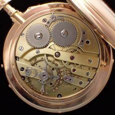 L.Leroy pocket watch 18k gold case movement maid in France